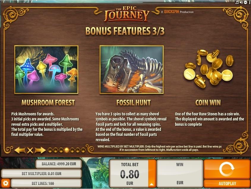 The Epic Journey Bonus Features